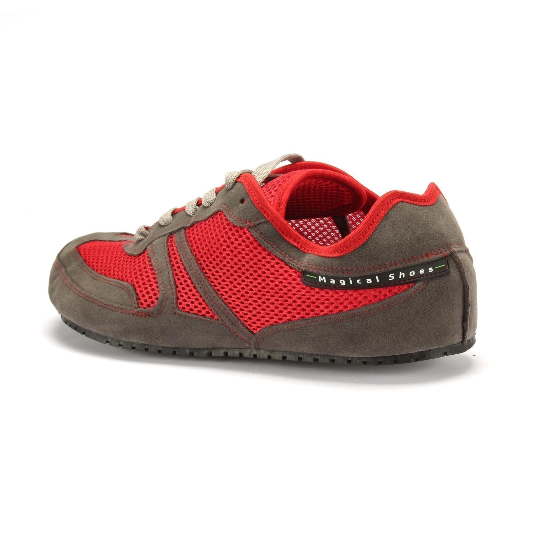Barfußschuh-Hersteller Magical Shoes Vegan Red Barfußschuhe für natürliches und gesundes Gehen & Laufen Zero Drop