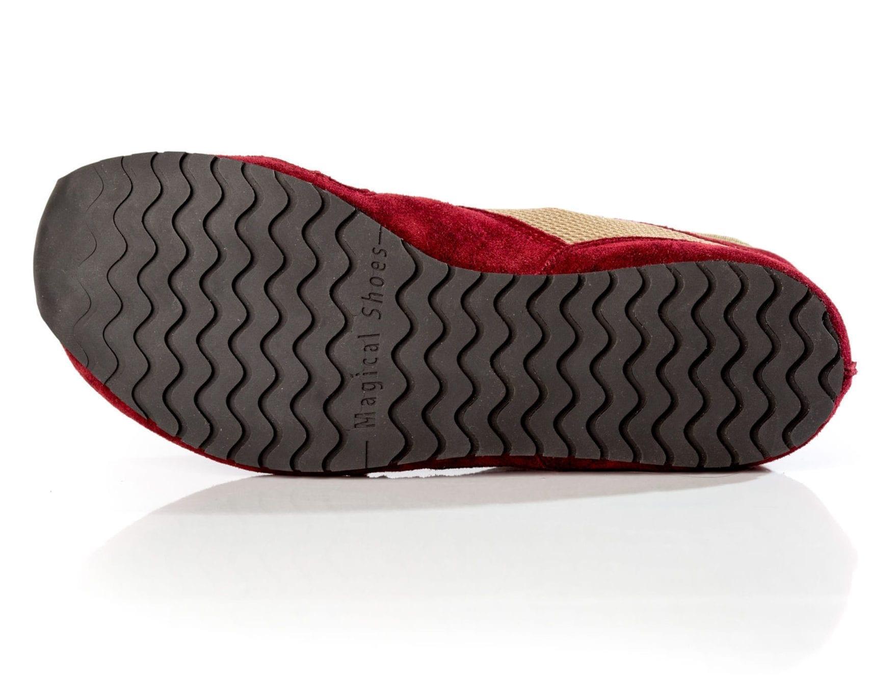 obuwie bieganie boso minimalistyczne Magical Shoes explorer fruity claret podeszwa