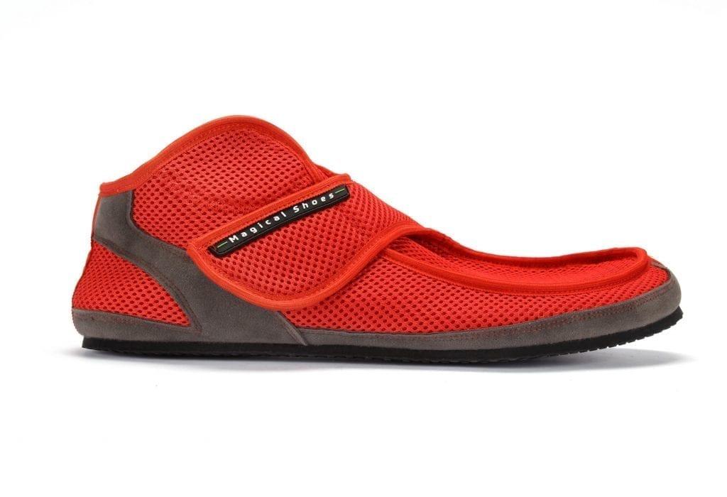 Barfußschuh-Hersteller Magical Shoes Recovery Red memory foam Barfußschuhe für natürliches und gesundes Gehen & Laufen Zero Drop