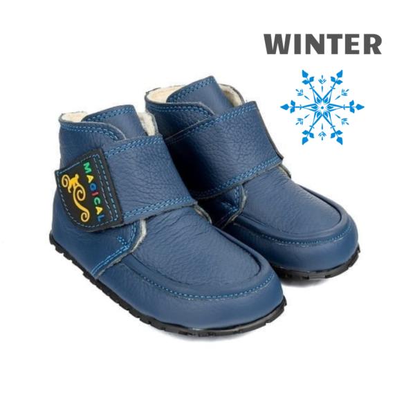 Najzdrowsze buty minimalistczne dla dziecka - Magical Shoes ZiuZiu Navy Blue