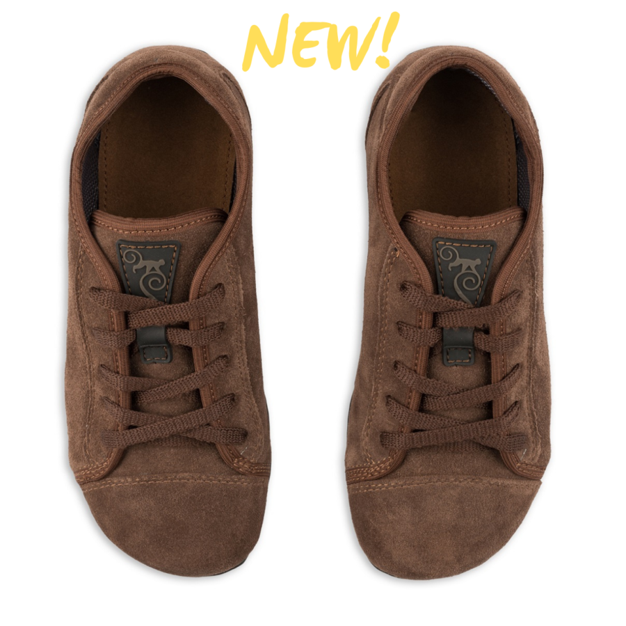 minimalist barefoot casual shoes - Magical Shoes Promenade Brown Suede