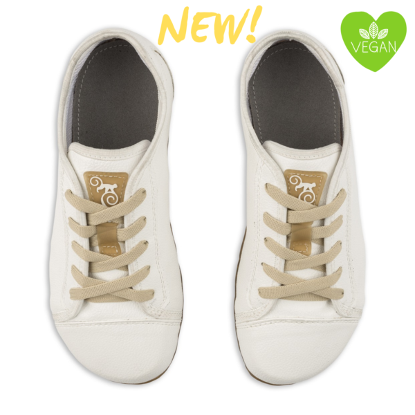white casual barefoot shoes - Magical Shoes Promenade White Vegan