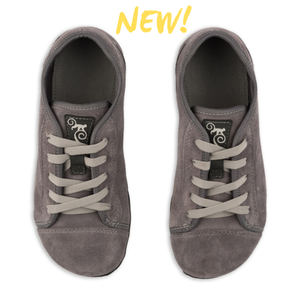 Magical Shoes - barefoot minimalist shoes - Promenade Grey Suede