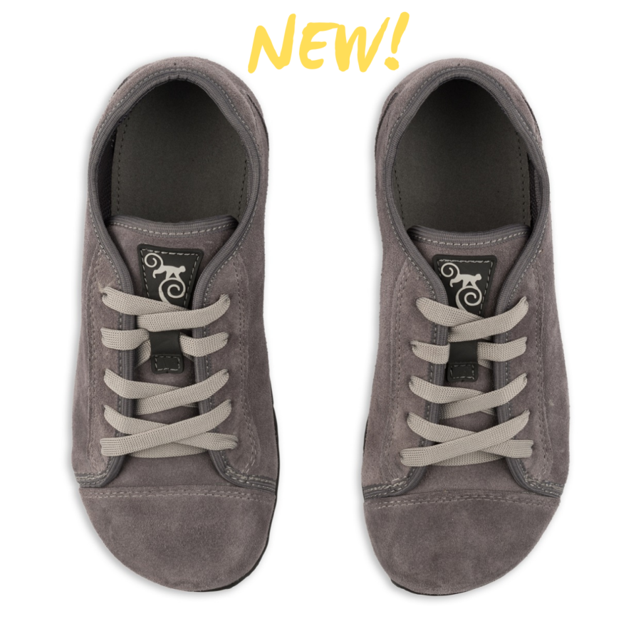 Magical Shoes - barefoot minimalistické boty - Promenade Grey Suede
