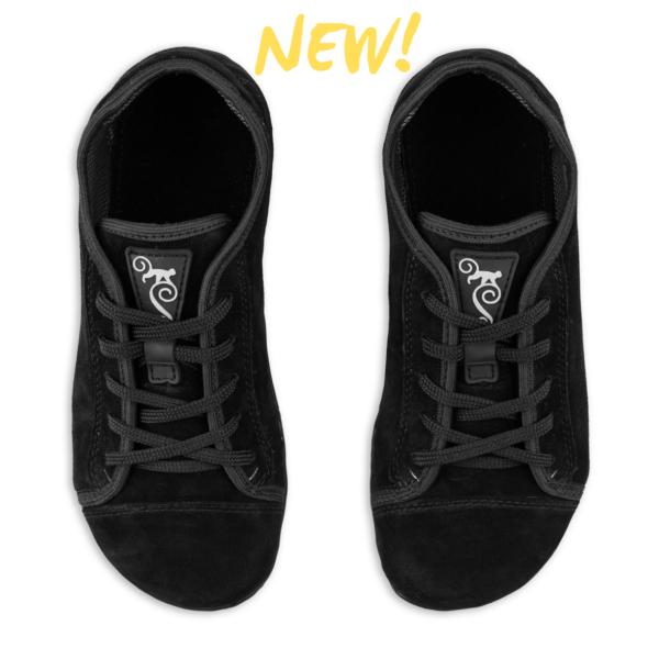 alltägliche barfüßschuhe Magical Shoes Promenade Black Suede