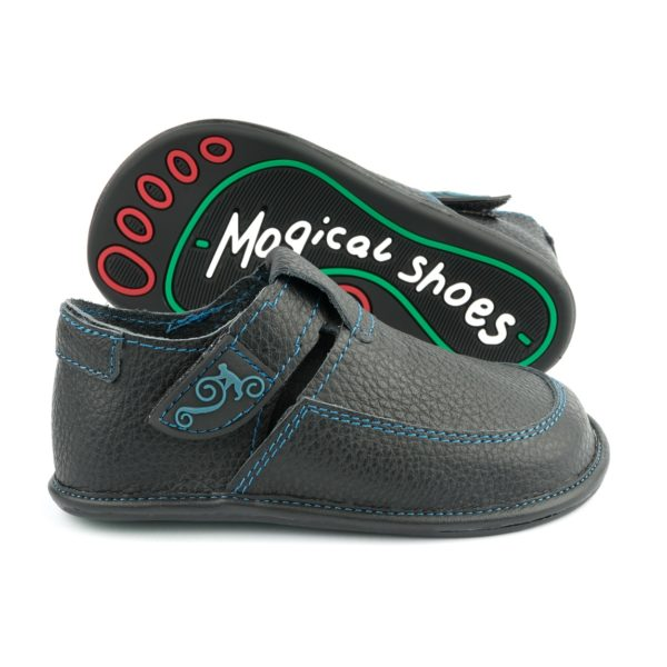 Kinder-Barfußschuhe für breite Füße - Magical Shoes LULU BLACK