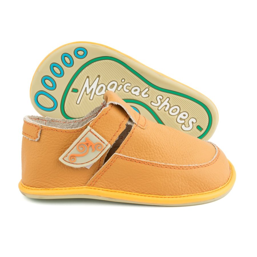 colorful kids barefoot shoes Magical Shoes LULU Yellow