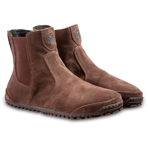 Comfortable men's barefoot boots - Magical Shoes Lupino Brown