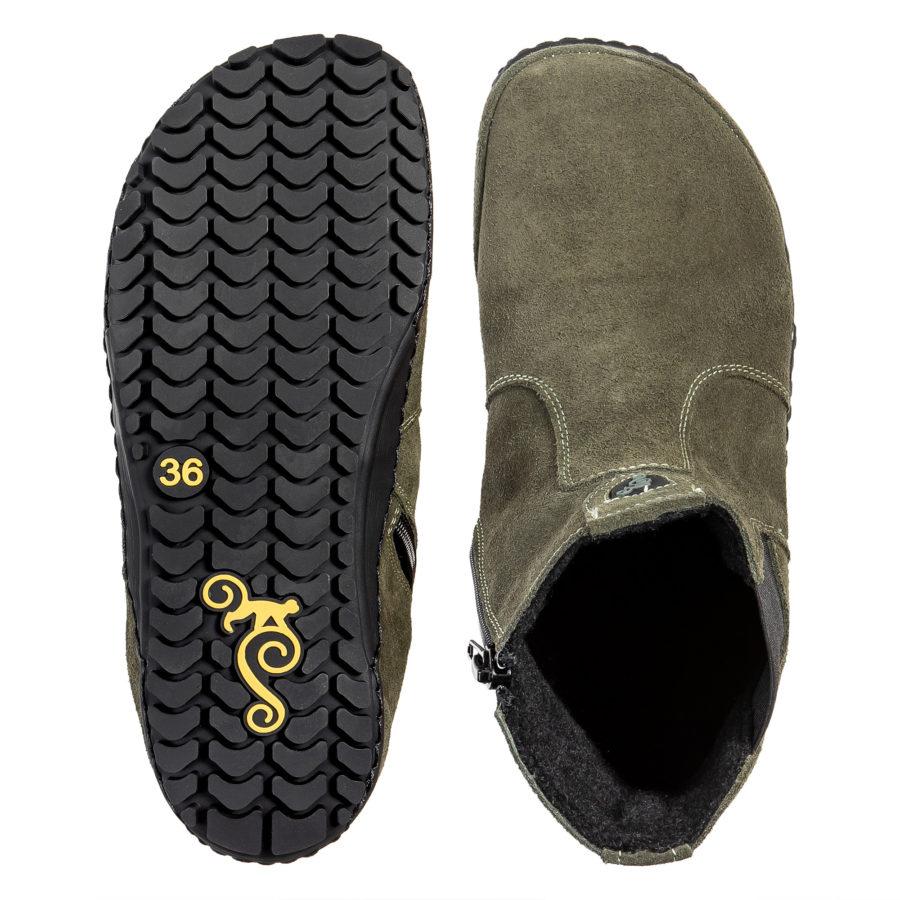 Zdrowe buty barefoot na jesień - Magical Shoes LUPINO Green