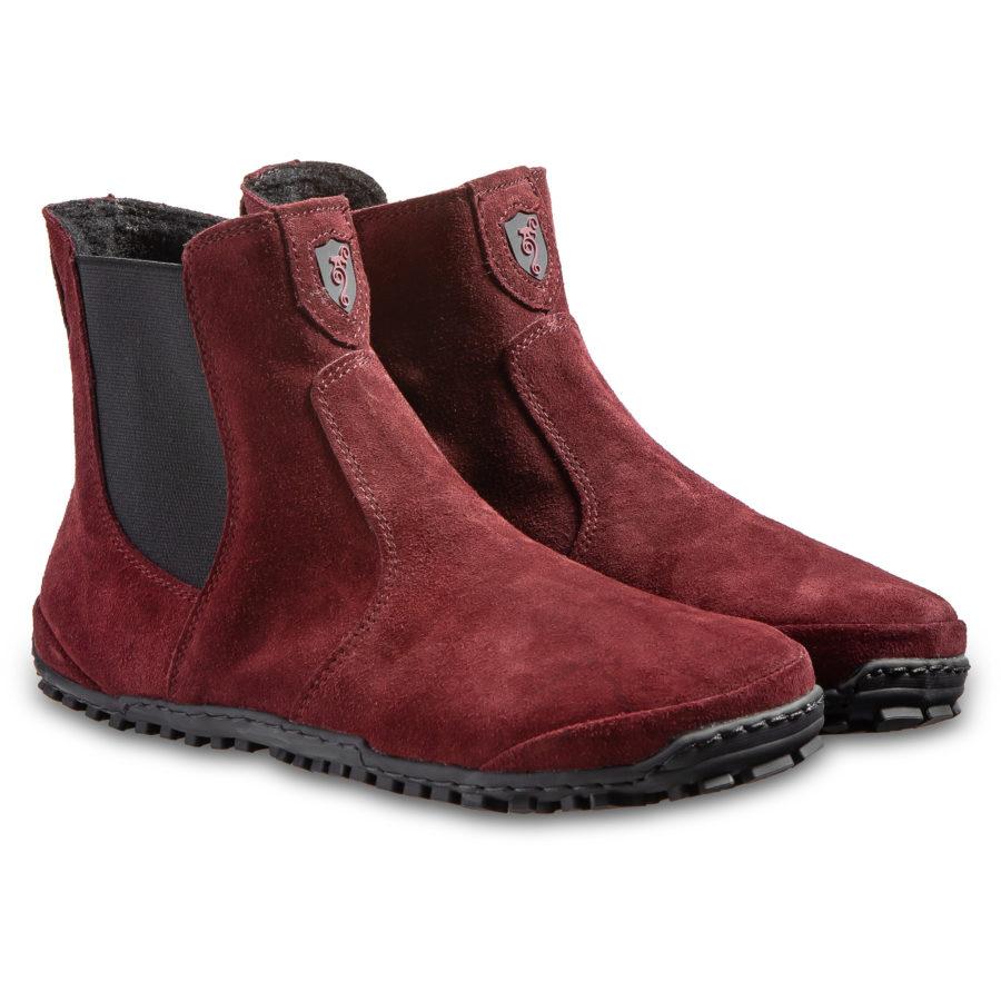 Eleganckie sztyblety barefoot - Magical Shoes LUPINO Burgundy