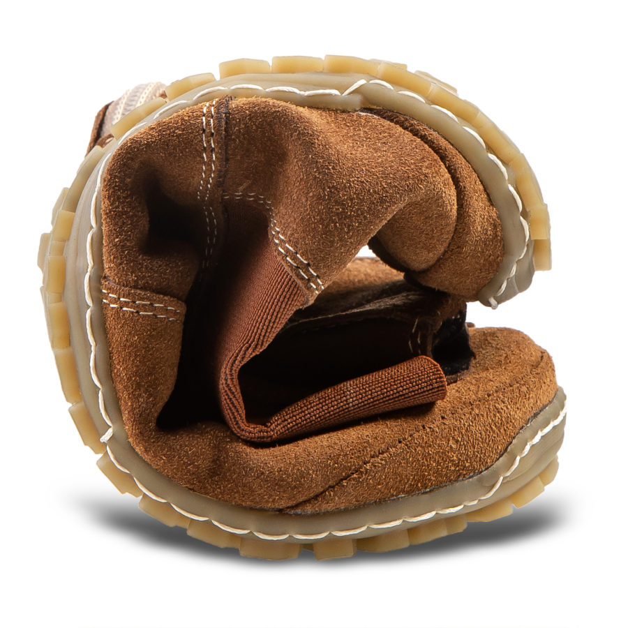 flexible autumn barefoot boots - Magical Shoes Lupino Cognac