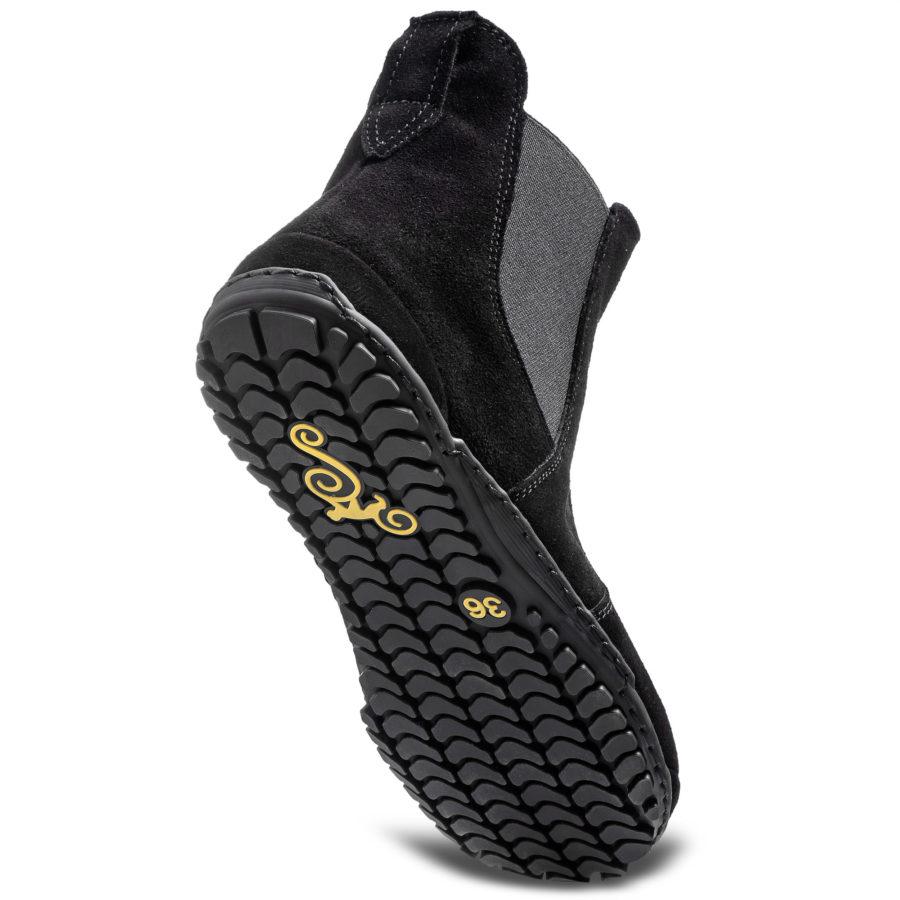 Polskie wygodne buty barefoot z zamszu - Magical Shoes LUPINO Black