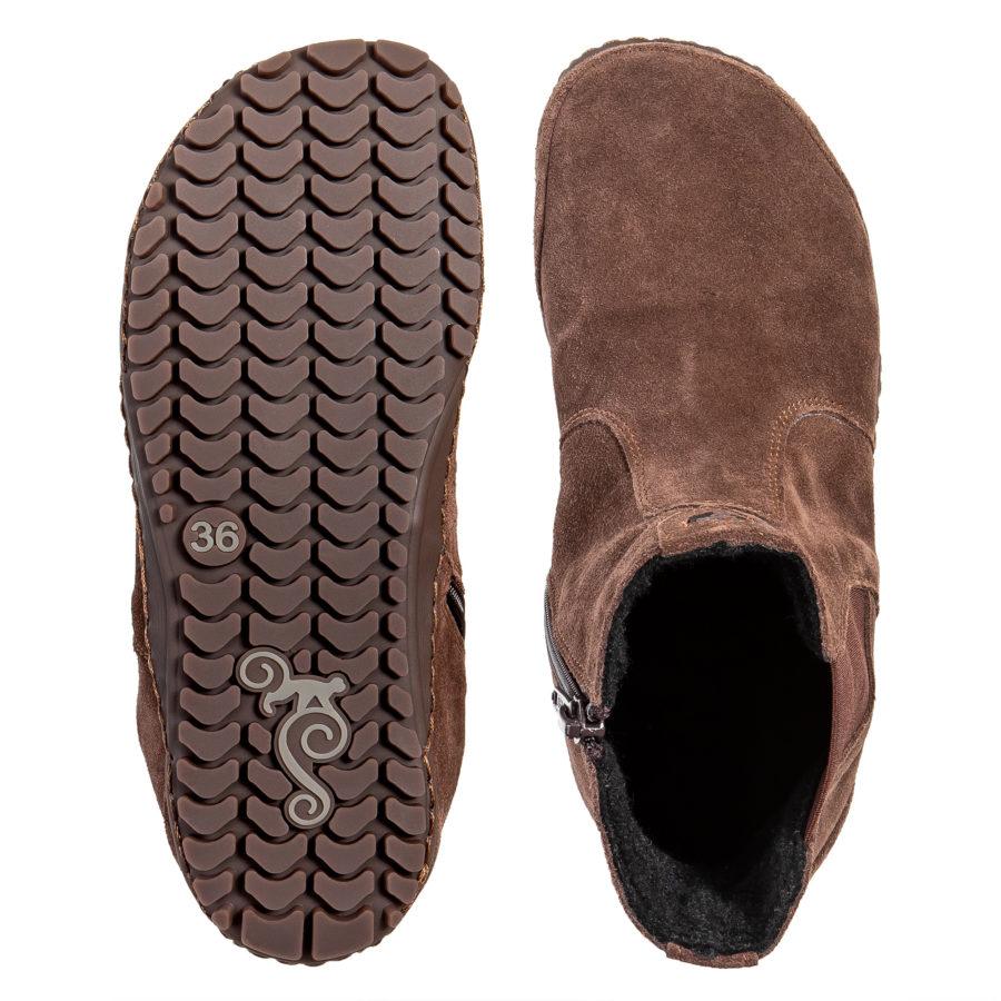 Ciepłe przejściowe botki barefoot - Magical Shoes LUPINO