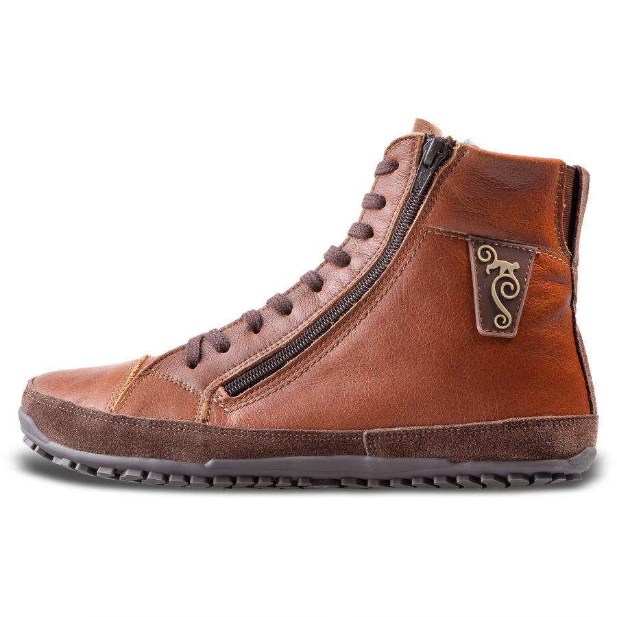Polskie zimowe buty barefoot - Magical Shoes Alaskan Buffalo Chestnut