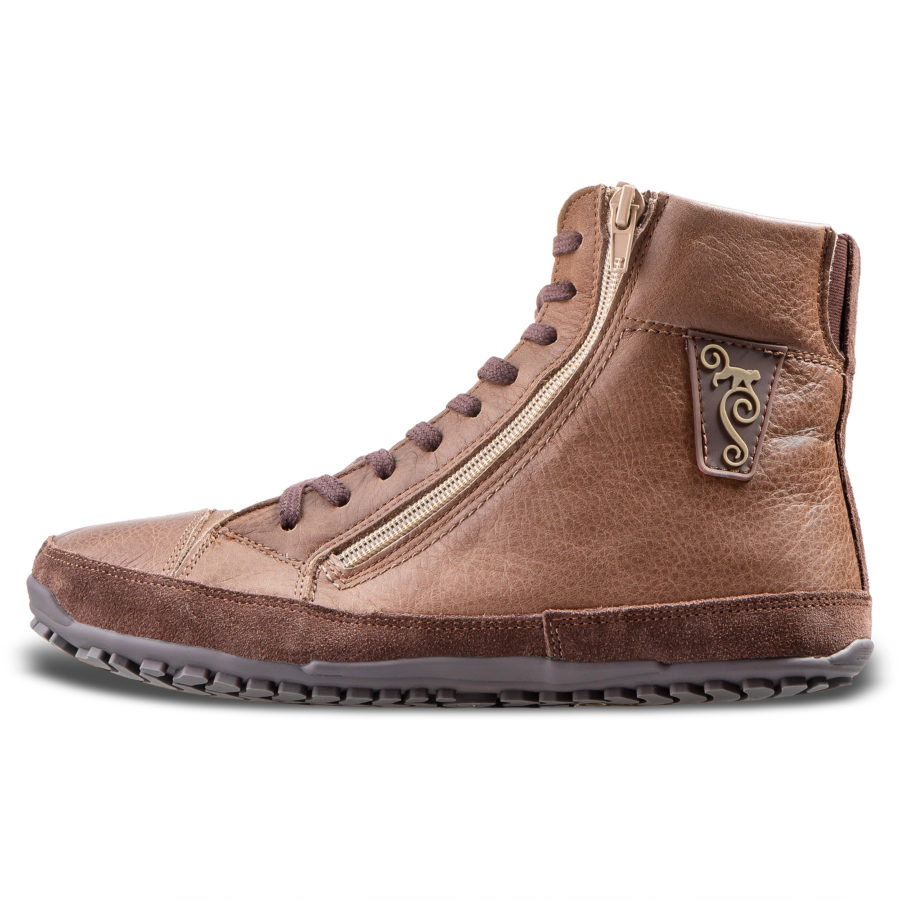 Brown winter barefoot boots