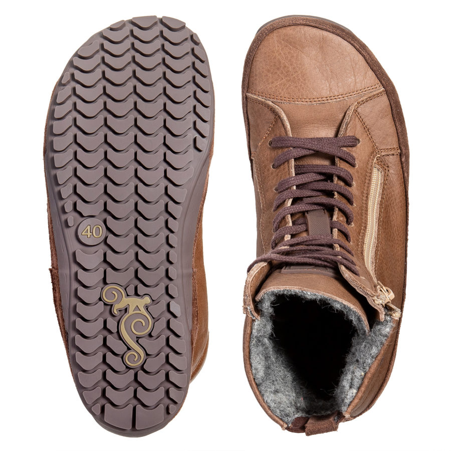 Winter barefoot boots wide toe box - Magcial Shoes Alaskan Buffalo