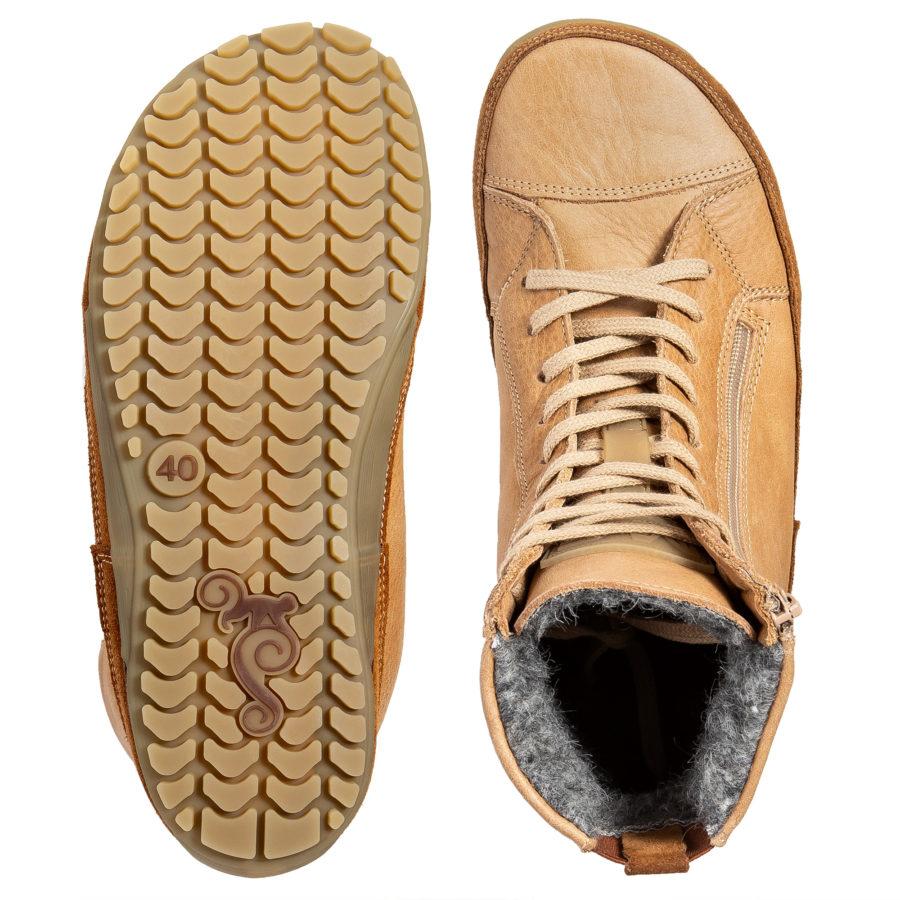 Ciepłe buty minimalistyczne - szerokie w palcach - Magical Shoes Alaskan Buffalo Palomino