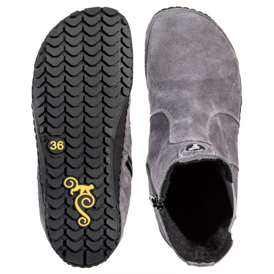 Jesienne botki barefoot do chodzenia - Magical Shoes LUPINO Gray