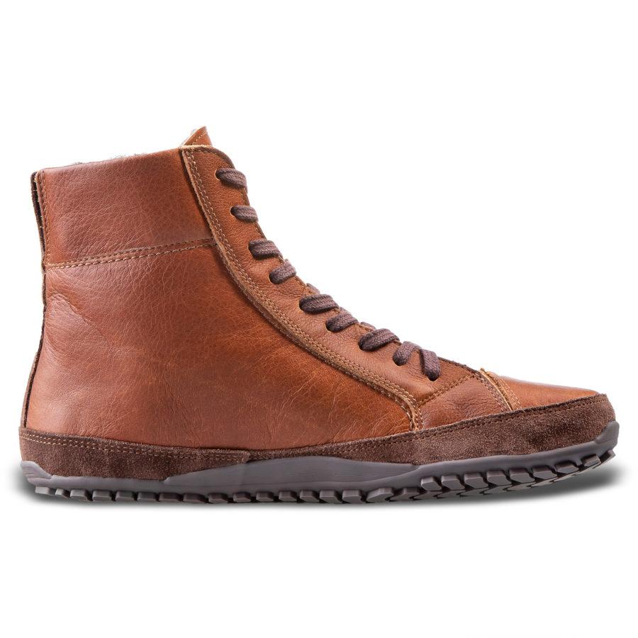 Płaskie zimowe buty minimalistyczne - Magcial Shoes Alaskan Buffalo Chestnut
