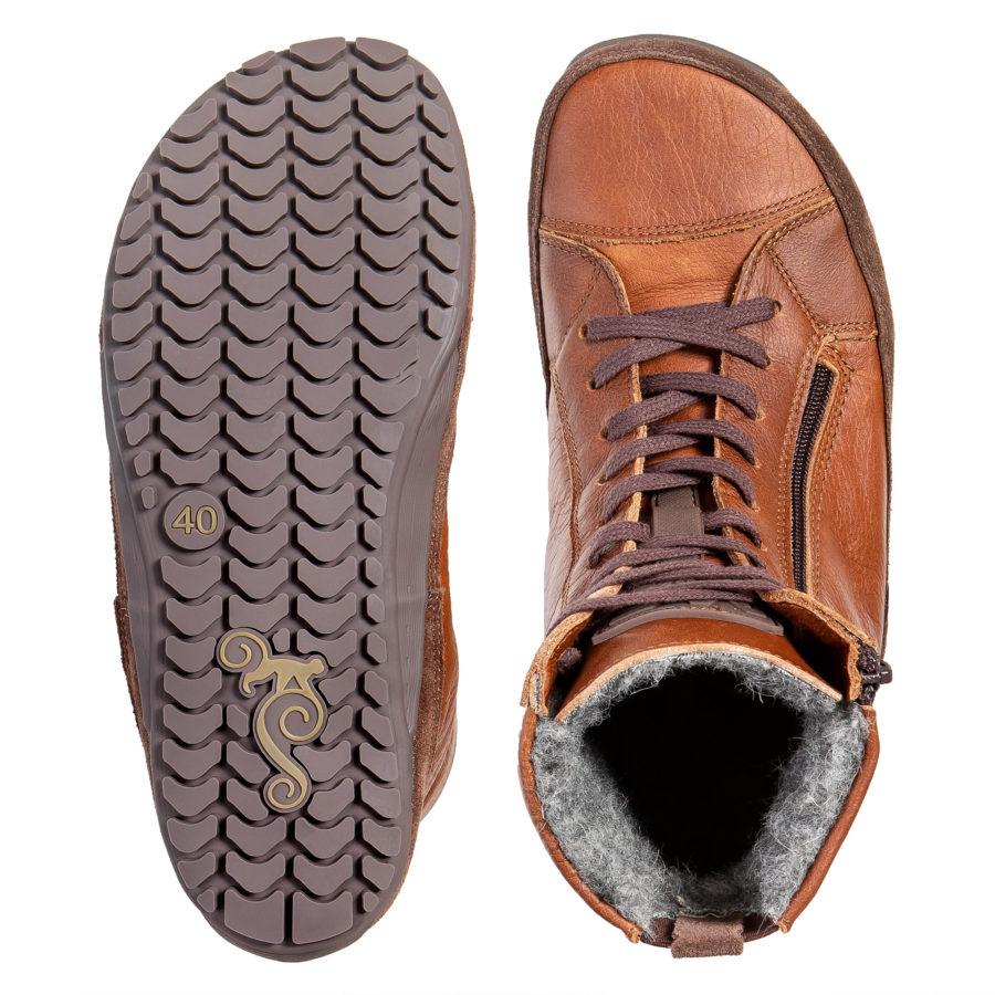Ciepłe zimowe buty minimalistyczne - Magcial Shoes Alaskan Buffalo Chestnut