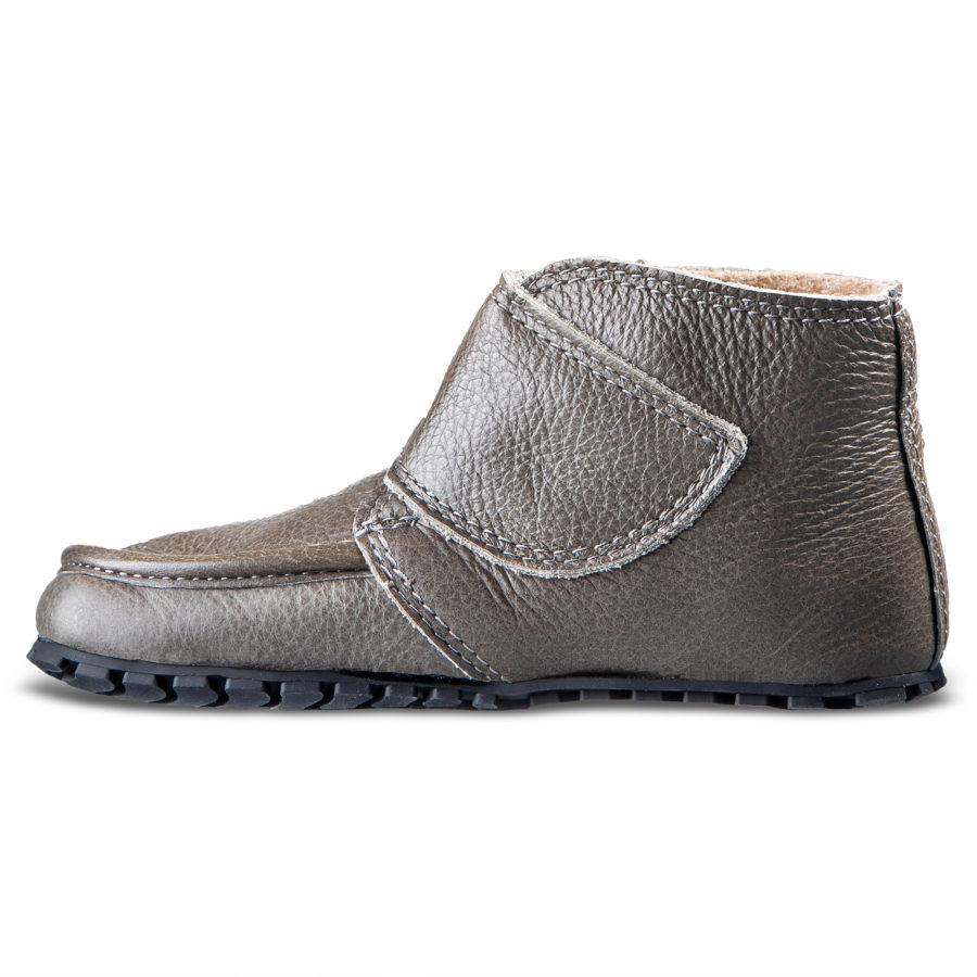 Gray children's barefoot shoes for fall - Magical Shoes TUPTUP
