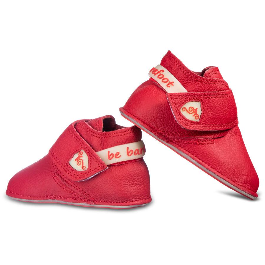 Czerwone buty dziecięce na rzepy - Magical Shoes Baloo