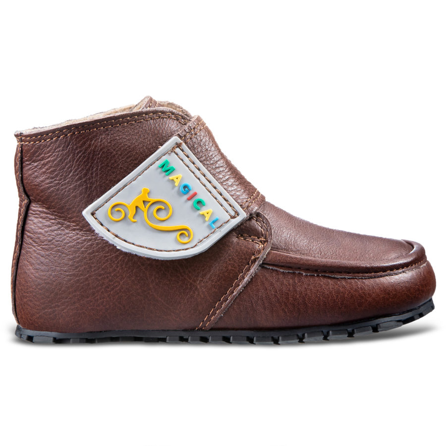 Płaskie buty dziecięce na jesień - MFlat children's barefoot boots for fall - Magical Shoes TupTupagical Shoes TupTup