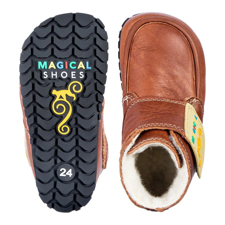 Winter-Barfußstiefel mit breiter Zehenbox für Kinder - Magical Shoes ZiuZiu