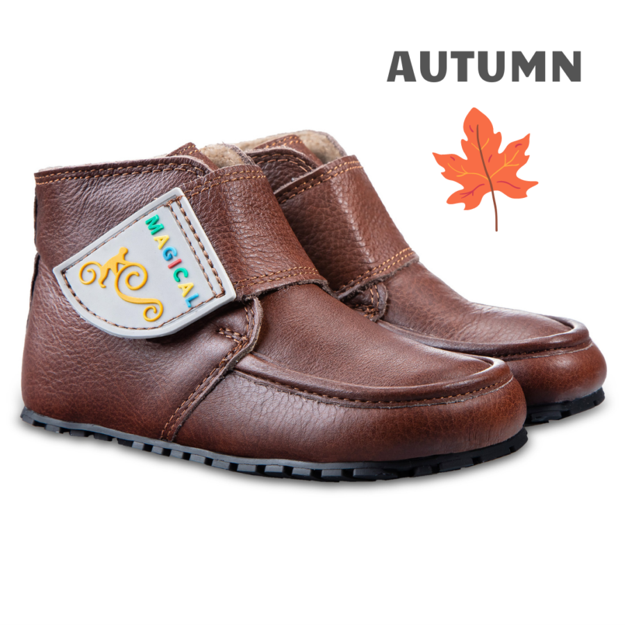 Autumn barefoot kid's boots- Magcial Shoes TupTup