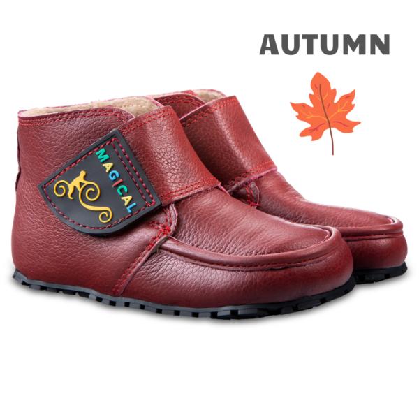 Leder Barfußstiefel für Babys - Magical Shoes TupTup Red